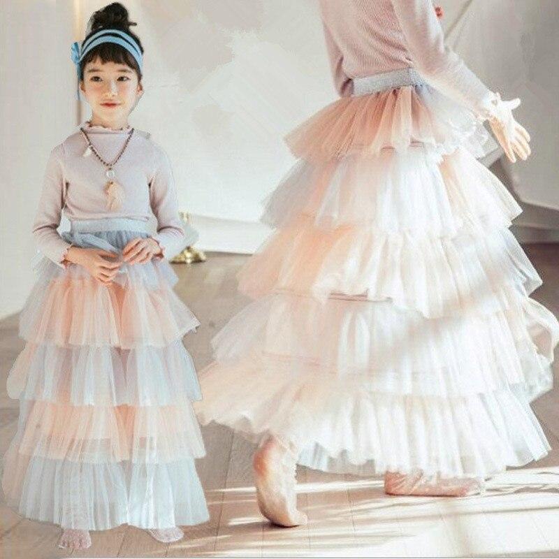 Fashion girls tutu skirts baby ballerina skirt children fluffy tulle skirt kids dance ballet skirt for girl casual Candy colors