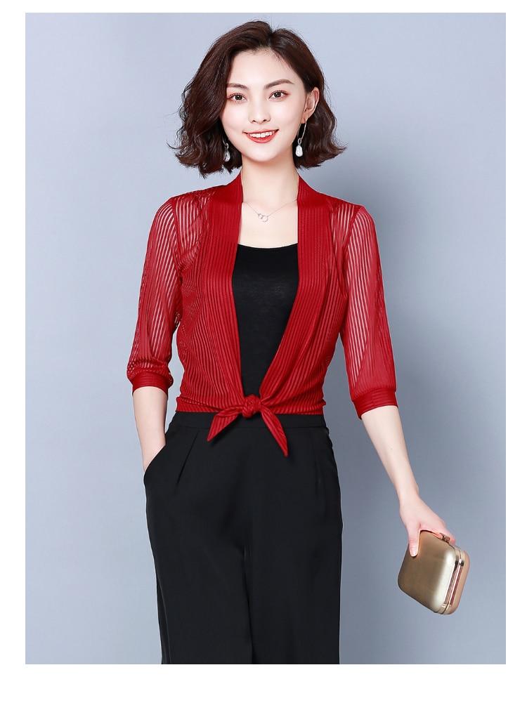 HTB1FdugR6TpK1RjSZKPq6y3UpXaY Women coats 2019 fashion ladies coats shirts short coats Solid Three Quarter office lady Open Stitch coats women 3723 50