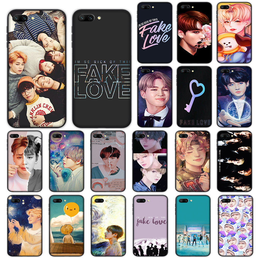 Korean Boys Fake Love Soft Case for Huawei <font><b>Honor</b></font> Note 10 <font><b>9</b></font> <font><b>Lite</b></font> 8X 7A 3GB Pro Y6 Y7 Y9 Prime Nova 3 Cover image