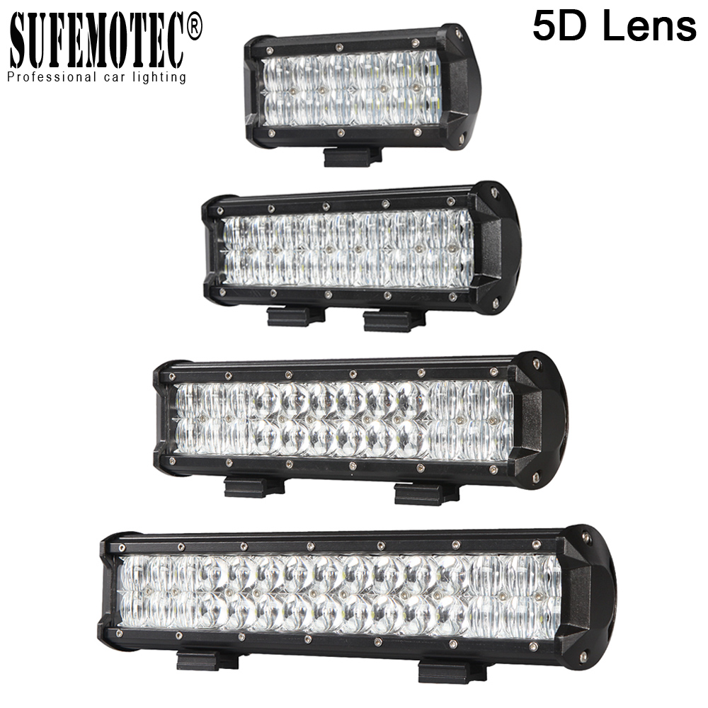 5D 4 7 9 12 15 Inch Led Bar Light For Motorcycle Tractor Boat Truck 4WD ATV Spot Flood Beams 4x4 Off road Led Work Lights