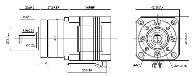 5:1 Planetary Gearbox Nema 17 Stepper Motor 1.68A for DIY