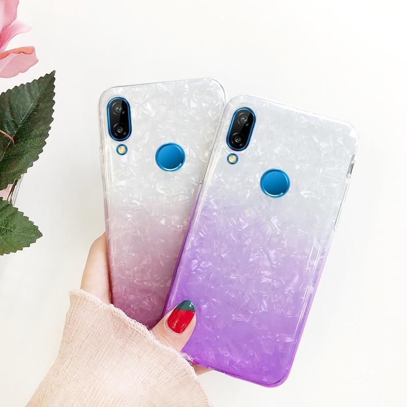 Colorful Gradient Soft TPU Case For Huawei P20 P20 Lite Mate 10 Lite P10 P9 Lite 2017 Honor 10 9 Lite 7C 7A Pro 6C P Smart Cover