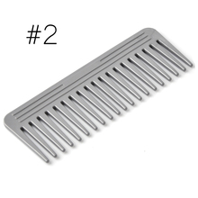 Black 19 Teeth Hair Comb ABS Plastic Heat-resistant Large Wide Tooth Hair Comb Detangling Wide Teeth Hairdressing Comb M03201