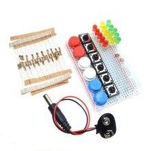 Smart Electronics Starter Kit mini Breadboard LED jumper wire button Free shipping
