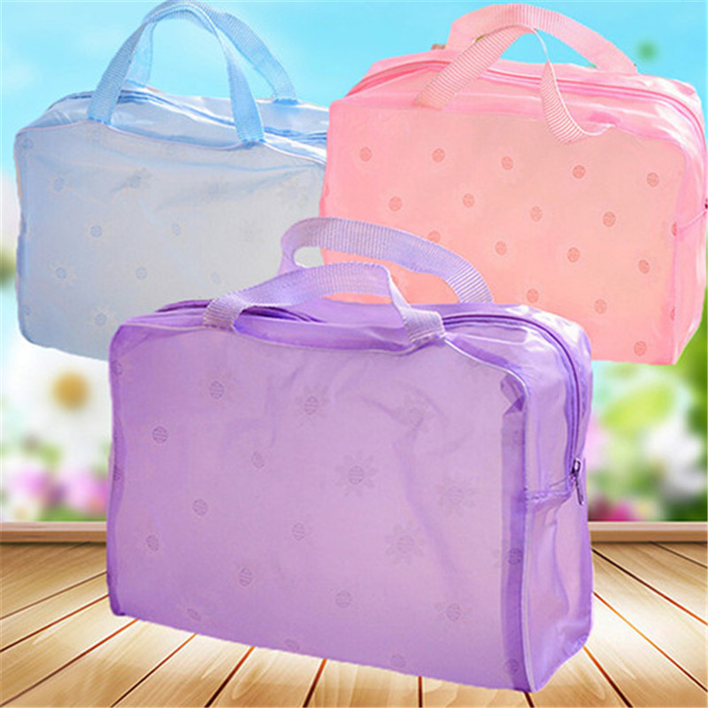 Portable Flower Waterproof Makeup Cosmetic Toiletry Travel