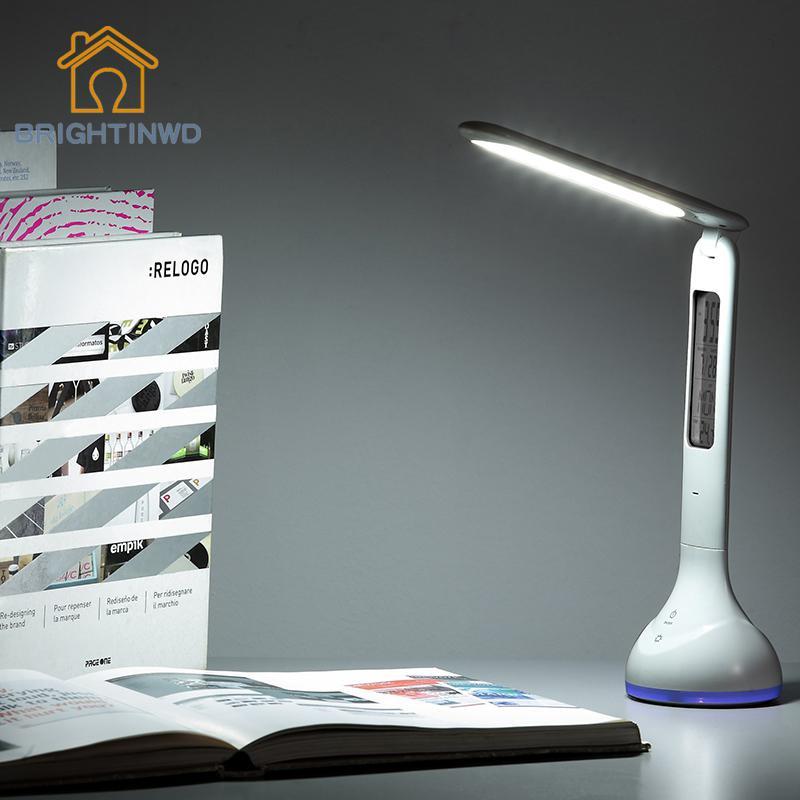 18 светодиодный USB Перезаряжаемые настольная лампа освещение атмосферы Регулируемый сенсорный выключатель Сенсор светодиодный стол огней ...