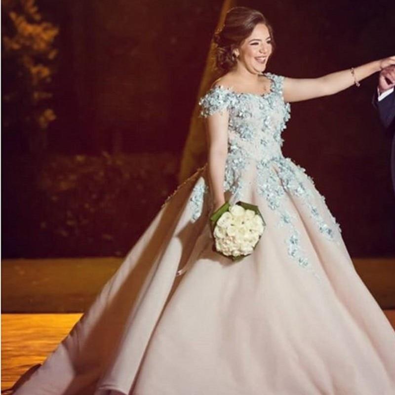 Lebanon Designer Wedding Dress Vestido De Noiva Robe De Mairee Bridal Gowns Floral Appliques Lace Long Bridal Dresses Wedding Dresses Aliexpress
