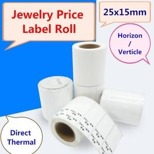 Image 2 - Direct Thermische Sieraden prijs label voor zebra thermische barcode printer, 1 roll, 500 stickers