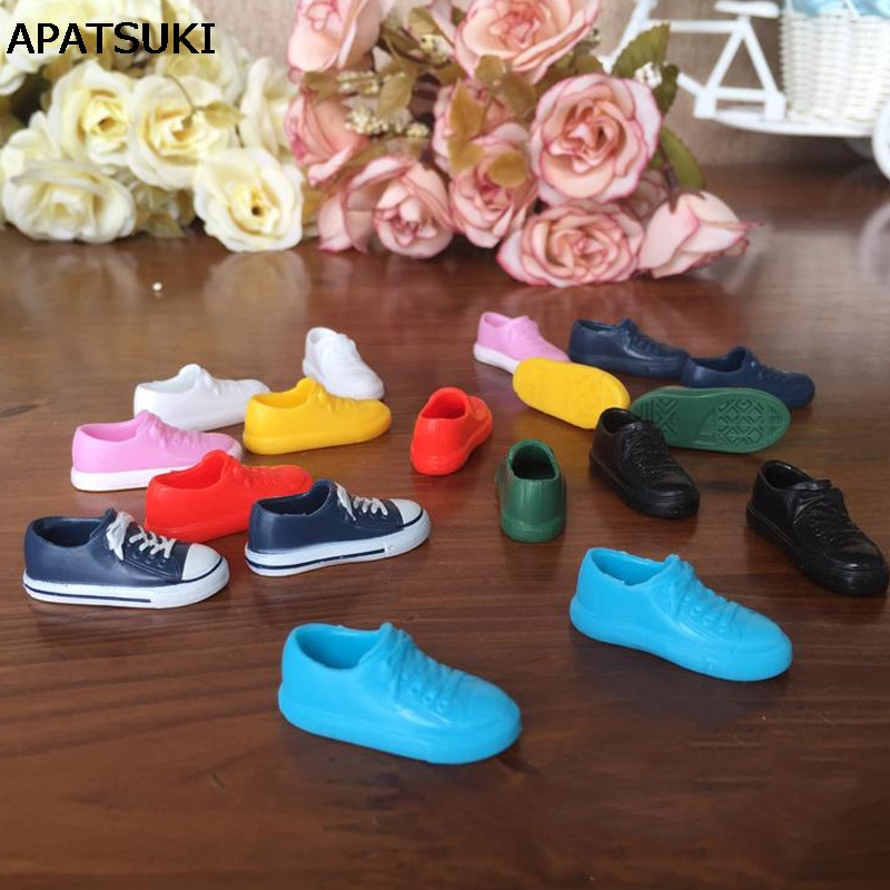 Fashion 1:6 Sneakers For Blythe Doll Colorful Doll Shoes For Licca Doll Shoes For Momoko 1/6 Dolls Accessories handmade leopard doll shoes doll accessories for blythe licca azone dal momoko lati jb toys girl play house free shipping