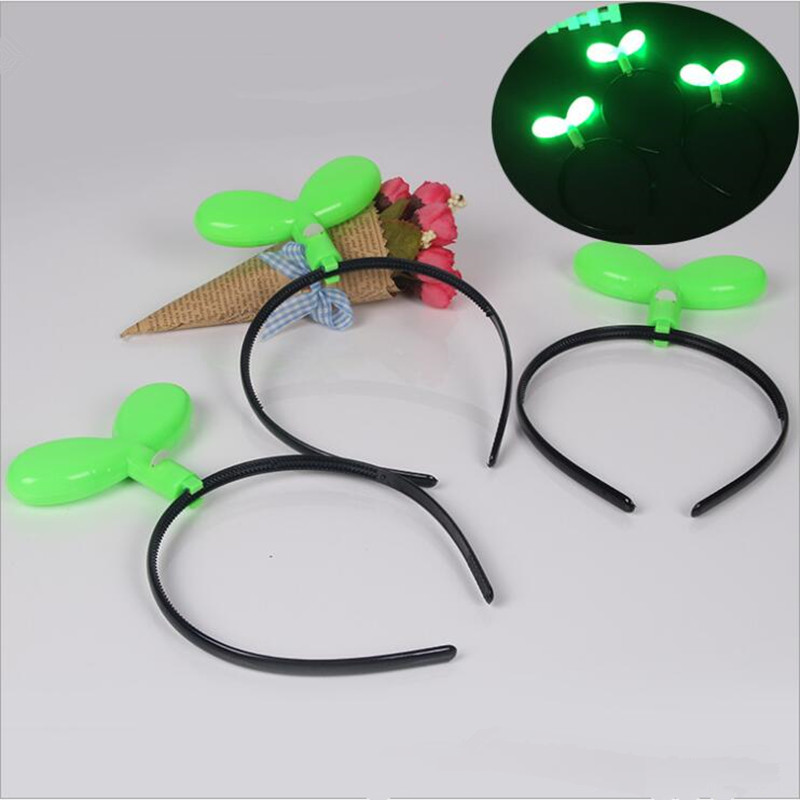 Women Girls LED Light Up Sprouts Headband Green Seedling Flashing Hair Band  Birthday Party Hair Halloween Christmas-in Hair Accessories from Mother    Kids ... ed1a41f550d