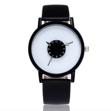 Hot fashion creative watches women men quartz-watch 2017 brand unique dial design lovers' watch leather wristwatches clock Gift