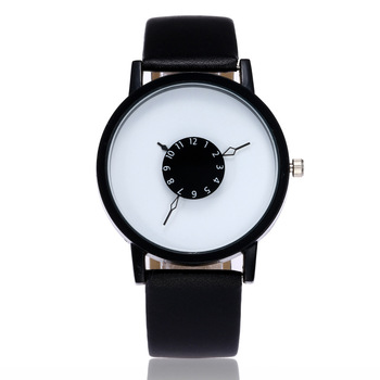 Hot Fashion Creative Watches Women Men Quartz Watch Brand Unique Dial Design Lovers' Watch Leather Wristwatches Clock kol saati fashion deer head dial design hand made light wood watch with brown genuine leather strap bamboo wristwatches for men women