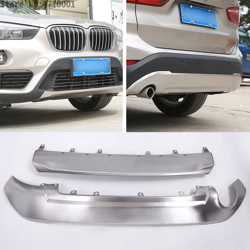 304 Stainless Front & Rear Bumper Sill Plate Protector Cover Trim Stickers 1pc For BMW F48 X1 2016 2017 Car-styling