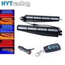 """34 """"48 LED Auto Di Emergenza Led Strobe Flash Spia di Avvertimento Visor Dash Strobe Flash Light Bar Rosso Blu ambra 12 v-24 v"""