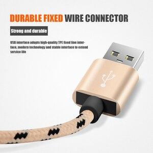 Image 3 - Cables Micro USB 1,5 m 2m de carga rápida Nylon USB Sync datos teléfono móvil Android adaptador cargador Cable para samsung Cable