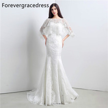 Forevergracedress High Quality Mermaid Wedding Dress Sweetheart Lace Up Back With Jacket Long Bridal Gown Plus Size Custom Made
