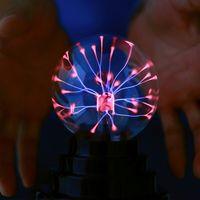 WANGE 3 Polegada Magia USB Plasma Ball Esfera de Luz Mágica Bola de Plasma Bola de Cristal De Vidro Transparente Luz Crianças Brinquedos Aniversário presente