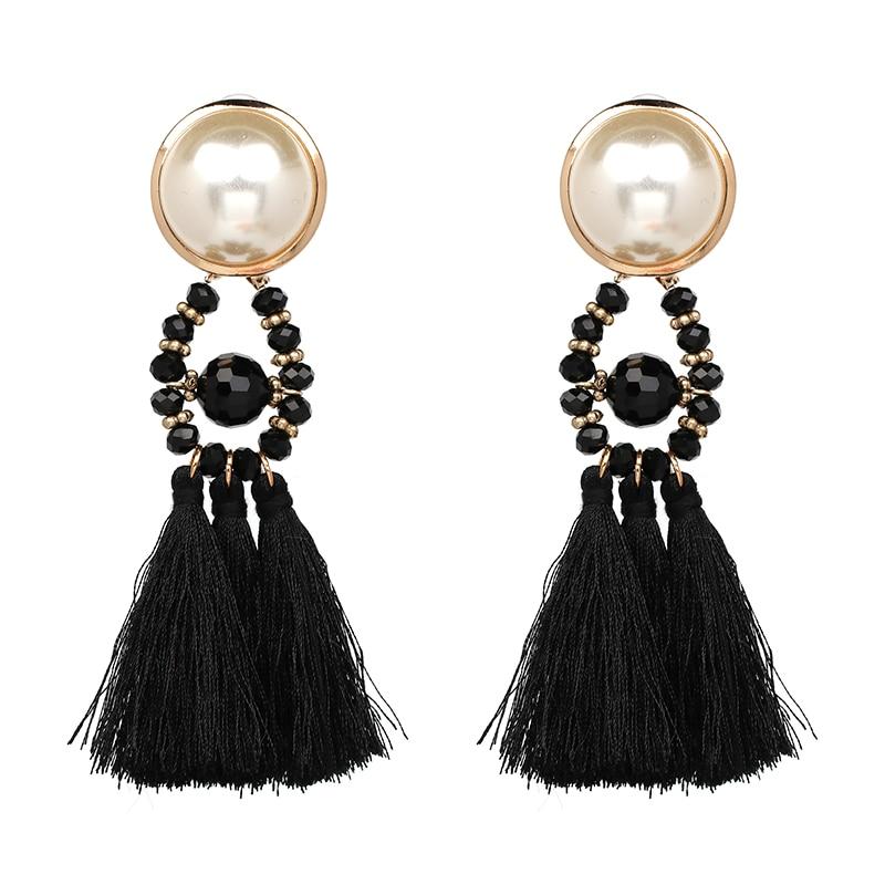 JUJIA 2020 Wanita Etnis Vintage Panjang Menjuntai Fringe Earrings - Perhiasan fashion - Foto 6