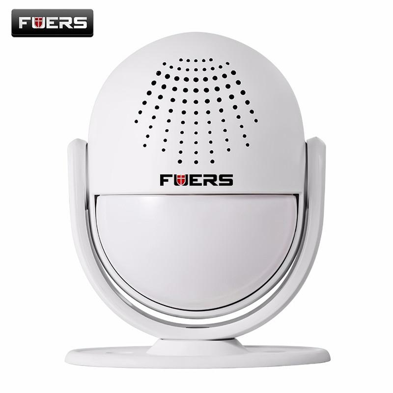 Fuers Welcome Chime Door bell 90dB Wireless Infrared IR Motion Sensor 52 Songs IR Detect 6-8M DIY Slogan Burglar Alarm Doorbell ks v2 welcom chime bell sensor