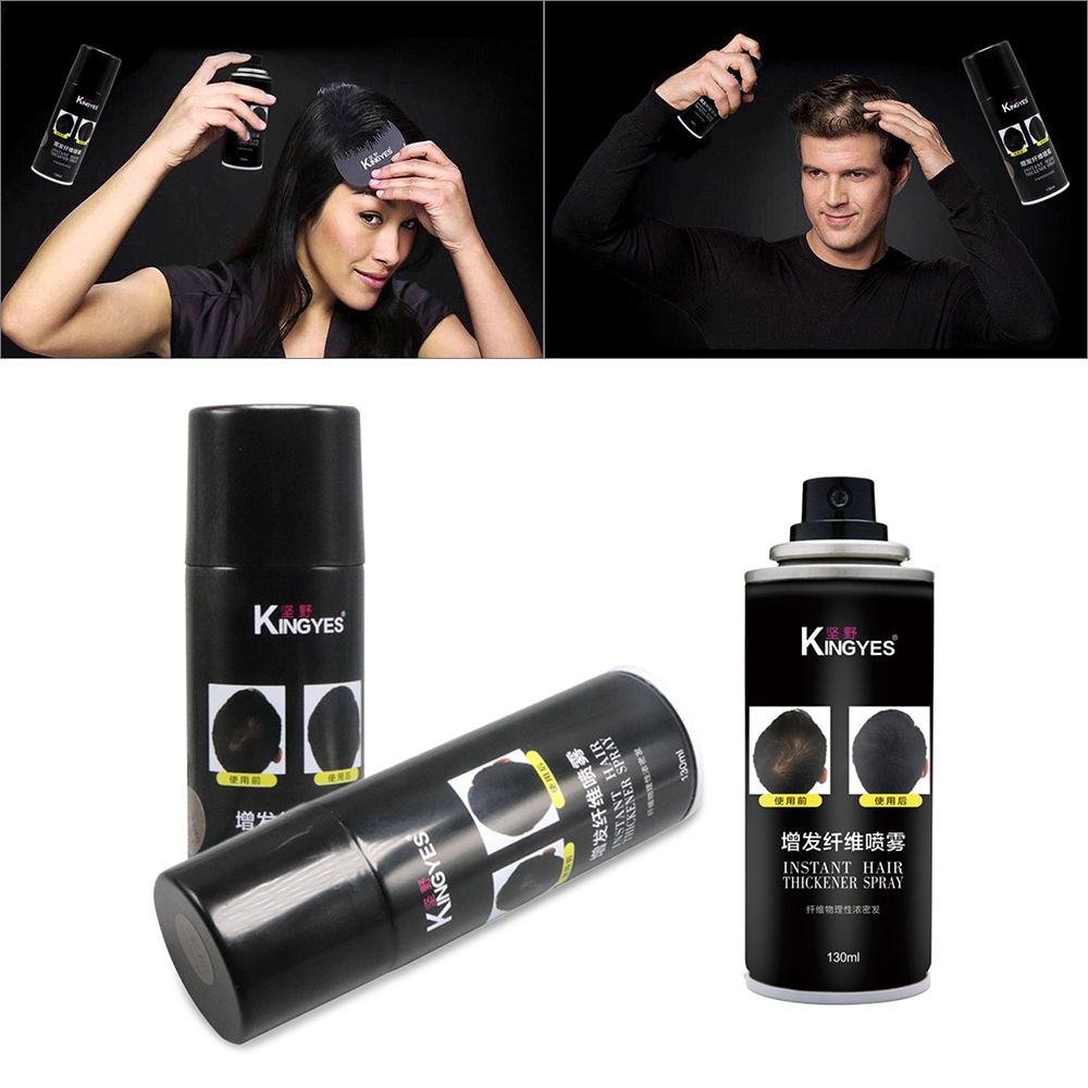 130ml Fast Hair Extension Fibers Hair Building Spray Cover White Hair Replacement For Hair Loss Products TSLM2