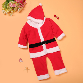 Christmas Santa Red And White Dress For Baby Boy And Baby Girl 1