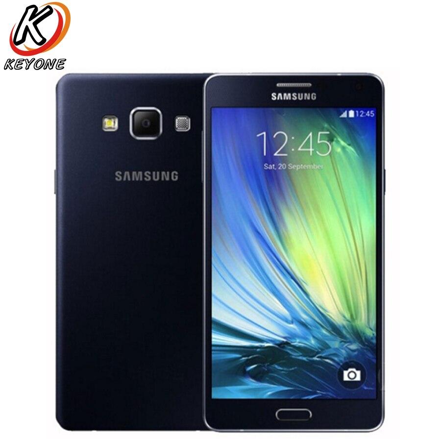 D'origine Samsung Galaxy A7 A7000 LTE Mobile Téléphone 5.5 2 GB RAM 16 GB ROM Octa Core 13MP 1920x1080px 2600 mAh Android Téléphone Intelligent