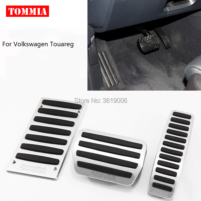 tommia For Volkswagen VW Touareg 2007-2017 Pedal Cover Fuel Gas Brake Foot Rest Housing No Drilling Car-styling