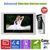 YSECU 10 Inch Intercom System Video Door Phone Night Vision Doorbell Camera Mounted Door Intercom Monitor