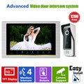Homefong 10 Polegada Intercom Sistema de Vídeo Porteiro Campainha Visão Noturna Camera Montado Monitor de Intercomunicador IP65
