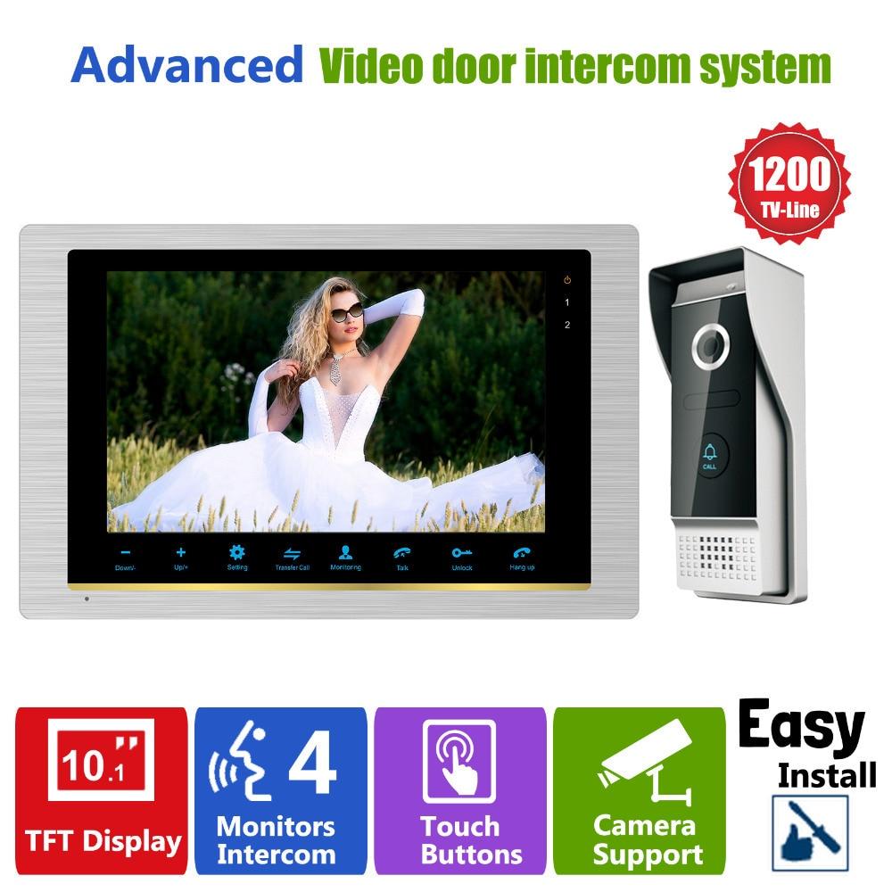 Homefong 10 Pouces interphone Vidéo Porte Téléphone vision nocturne caméra de sonnette Monté Porte Interphone Moniteur IP65