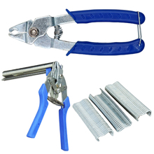 Repair Tool 1PC  Hog Ring Plier Tool 600pcs M Clips Chicken Mesh Cage Wire Fencing Crimping Solder Joint Welding Hand Tools professional heavy duty pneumatic gabion hog ring plier