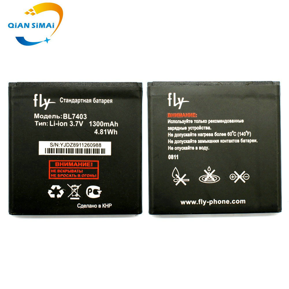 QiAN SiMAi Fly BL7403 battery 3.7v 1300mAh Replacement Li-ion Battery For Fly BL7403 free shipping + Track Code