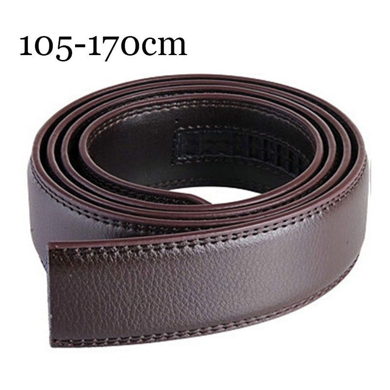 160 170cm Large Size Men's Automatic Buckle Belt Without Buckle Fashion Genuine Leather Belts For Men No Buckle 3.5cm Wide 2019