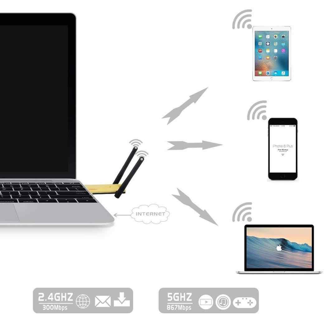 1200 Mbps WiFi Range Extender sans fil WiFi répéteur de Signal Internet 2.4 GHz: jusqu'à routeur décontracté jusqu'à 2.4 GHz