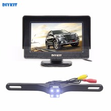 DIYKIT 4.3 Inch Color TFT LCD Car Monitor + LED Color Night Vision HD Rear View Car Camera Parking Assistance System