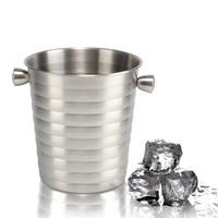 Stainless Steel Ice Bucket Ice Pellets Barrel Holder Shelf Stemware Rack Stones For Whisky Brewing Equipment