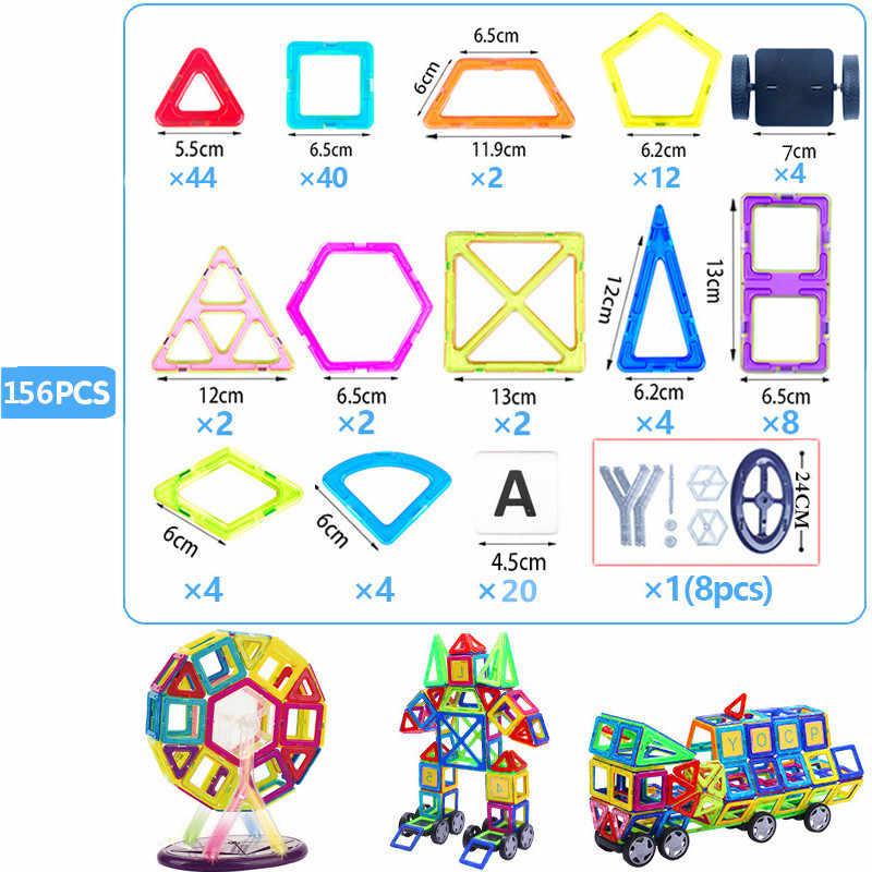 Большой Размеры магнитных блоков Магнитный конструктор Строительство игрушки набор магнит дошкольные Развивающие игрушки для малышей