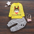 Newest 2017 Spring Baby Girls Cartoon Dog Clothes Sets Long Sleeve T Shirt+Pants 2 Pcs Kids Children Casual Suits Infant Suits