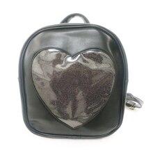 Candy Transparent Love Heart Shape PU Backpacks For Womens Girls 6 Colors Harajuku School Backpack Shoulder Bags