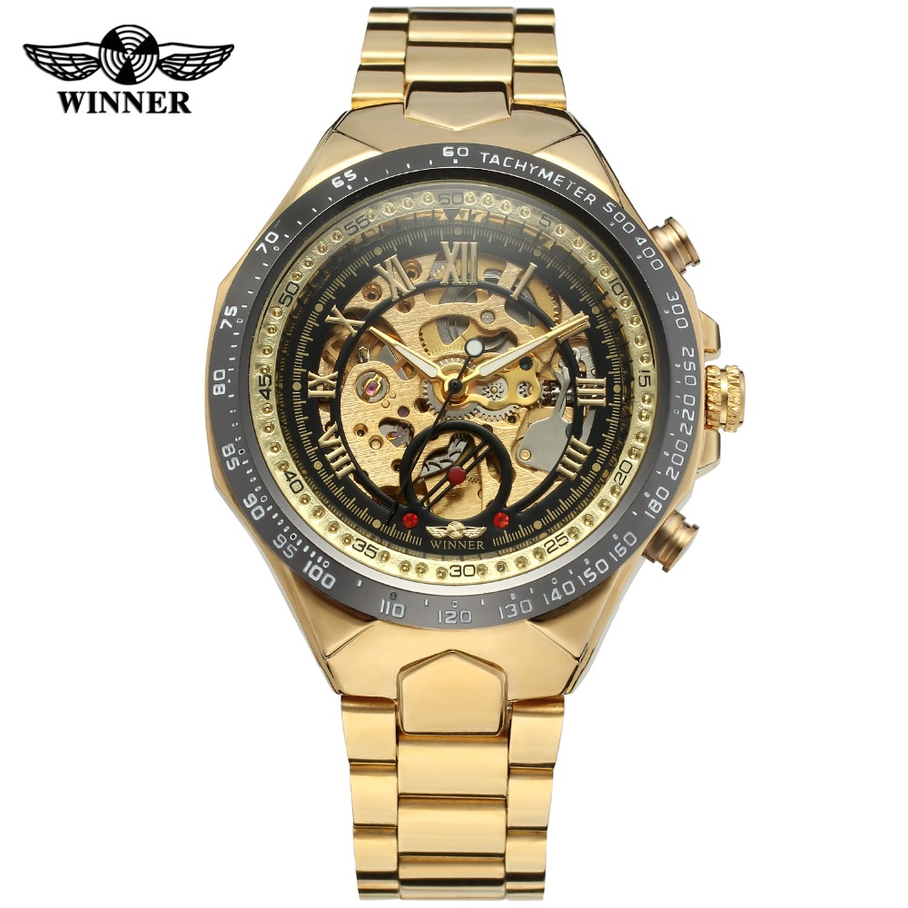 Number Sport Design Bezel Golden Watch Mens Watches Top Brand Luxury Montre Homme Clock Men Automatic Skeleton WatchNumber Sport Design Bezel Golden Watch Mens Watches Top Brand Luxury Montre Homme Clock Men Automatic Skeleton Watch