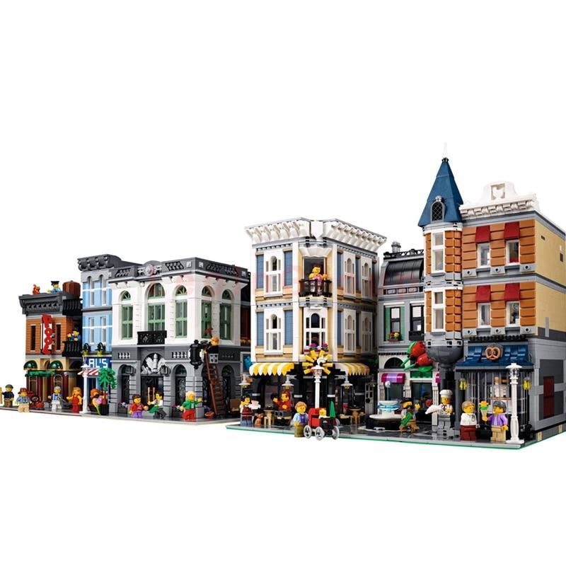 LEPIN 15001 Brick Bank LEPIN 15019 Assembly Square LEPIN 15011 Detective's Office Model Building Blocks Bricks legoings Toys конструктор lepin брик банк 2413 дет 15001