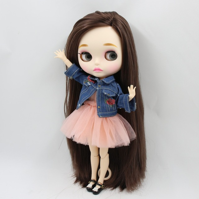 factory blyth doll bjd combination doll with clothes shoes or new face naked doll 1/6 30cm 4