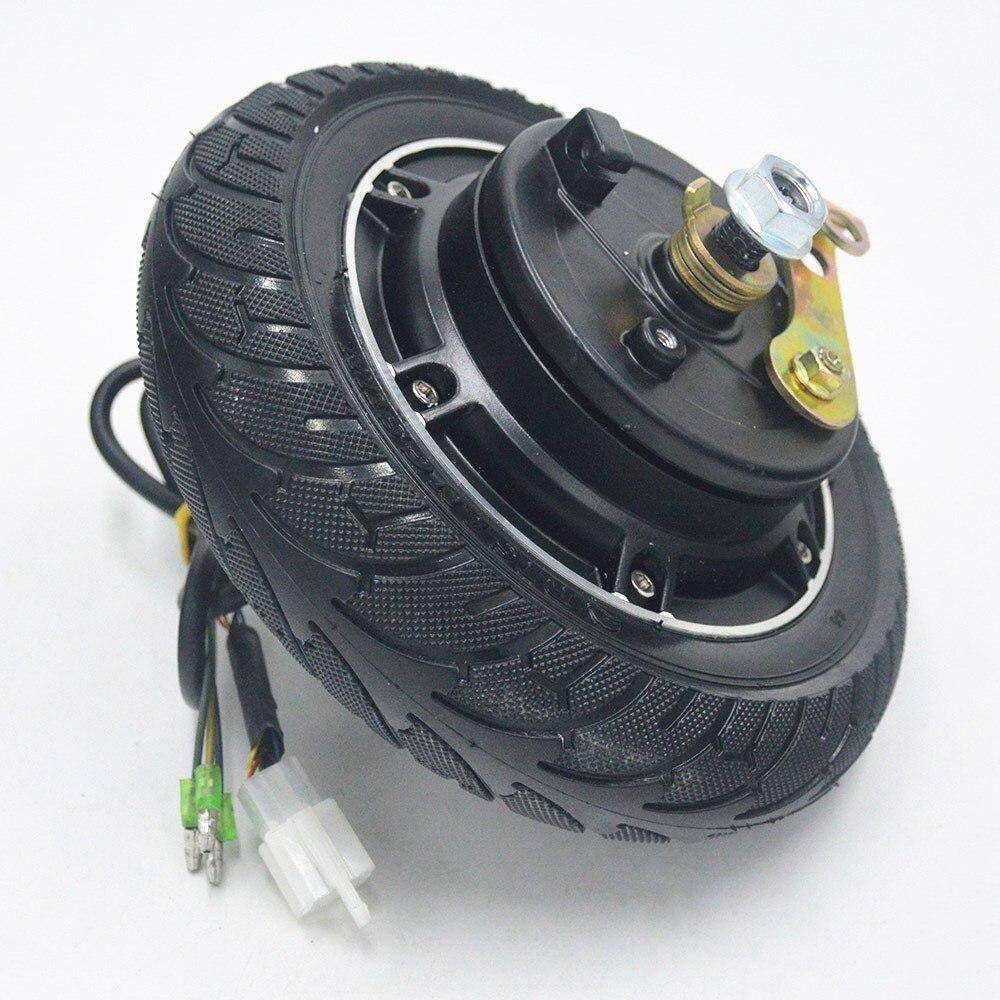 Electric Scooter Hub Wheel Motor 24V/36V/48V 350W DC Brushless Toothless 8 Wheel Motor E Scooter Wheel/Bicycle Motor Wheel