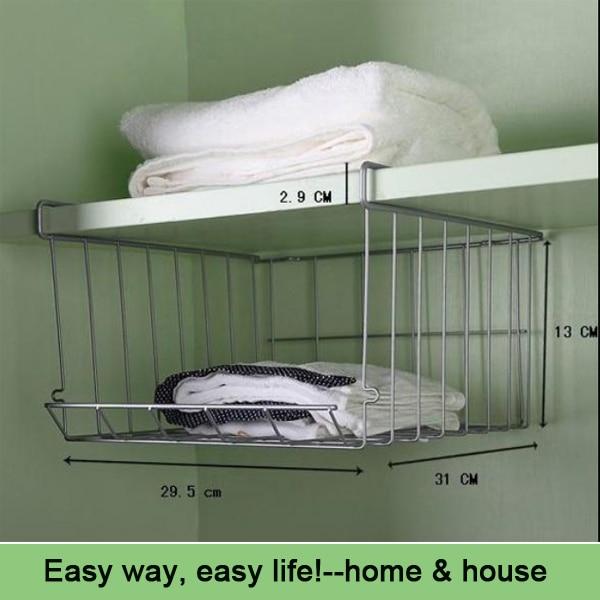 2pcs Lot Combined Type Iron Kitchen Cabinet Storage Shelf Under Basket Wrap Rack