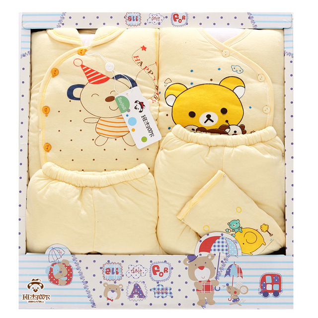 Winter Thick Warm Baby Clothes 100 Cotton Baby Gift Box Set Newborn