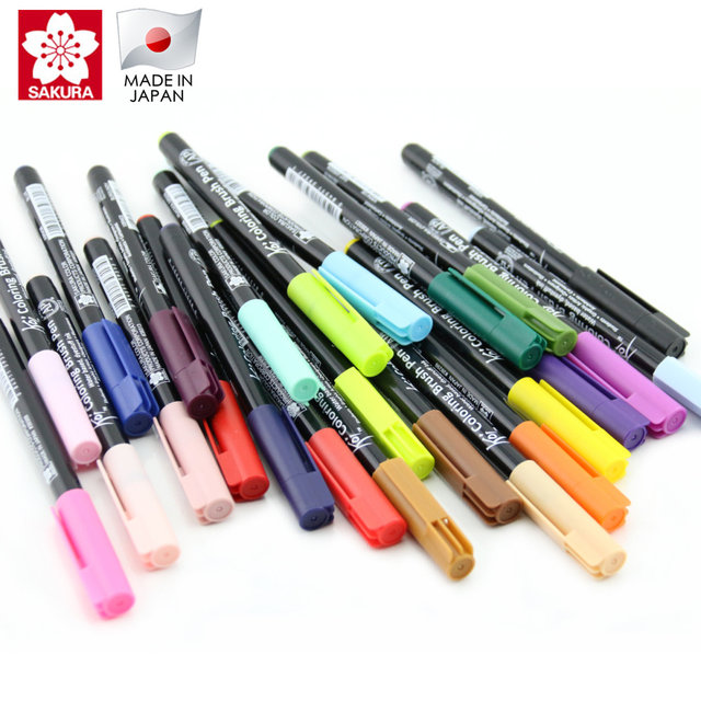 Online Shop Sakura Koi Coloring Brush Pen 6 Gray/12/24/48 Color Set ...