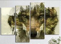 5d Diy Diamond Painting Cross Stitch Painting Square Drill Embroidery Rhinestones Painting Kits Triptych Mountain Wolf