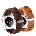 Crazy-лошадь Зерно Натуральная кожа ремешок для часов браслет для apple watch 38 мм/42 мм