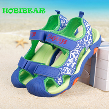 2019 Summer Children Beach Shoes Blue Gray Cute Baby Boy Sandals Rubber Anti Slip Sandals Boys Fashion Walking Sandals Boys Kids цена в Москве и Питере
