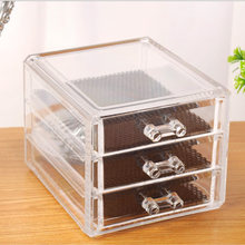 Transparent Storage Drawer Makeup Organizer Jewelry Cosmetic Storage Box 26 Holes Transparent Cosmetic Makeup Brush Holder Stand(China)